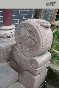 鼓形状装饰柱