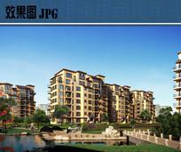 花园洋房建筑效果图JPG