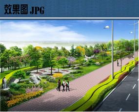 街旁绿地公园效果图