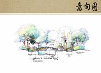 景观桥剖面图