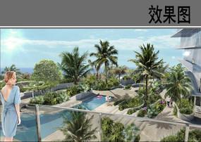 露天泳池景观效果图