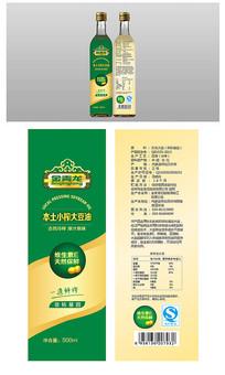 绿色时尚豆油包装