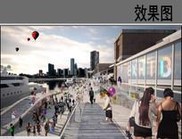 码头景观改造设计效果图