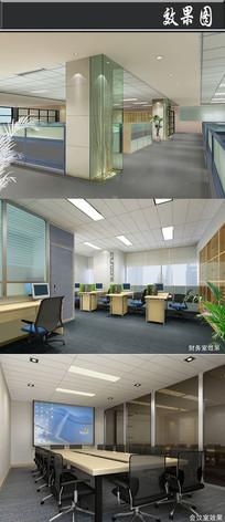某电器公司办公室效果图 JPG