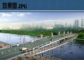 桥头景观透视效果图