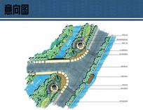 入口景观节点平面图