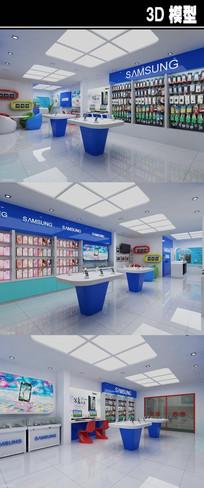 三星手机店3D模型
