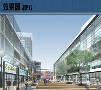 商业步行街景观效果 JPG