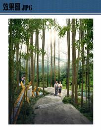 山林小径景观效果图