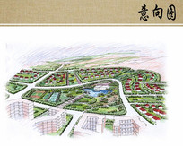 生态住宅区鸟瞰图