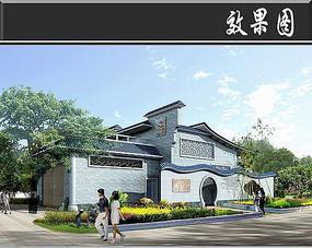 深圳某公厕垃圾站效果图 JPG