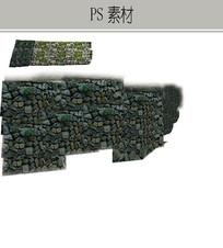 苔藓挡土墙PS素材