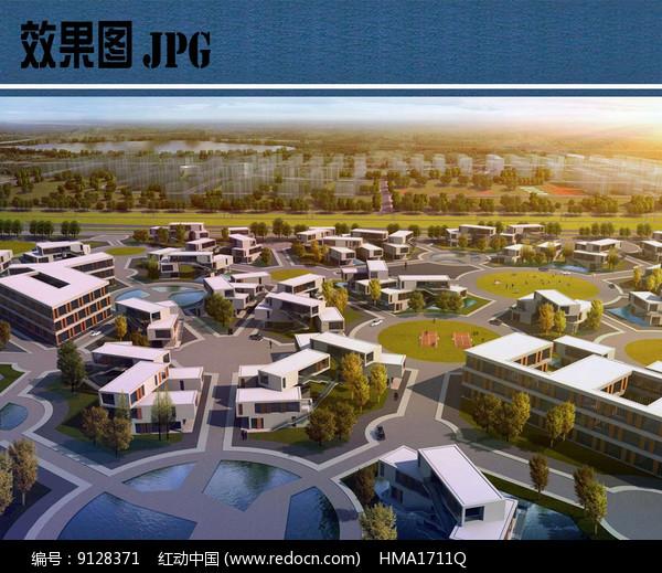未来居住区景观效果图图片