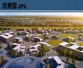 未来居住区景观效果图
