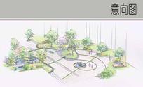 小广场手绘图