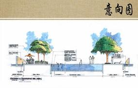泳池景观剖面图