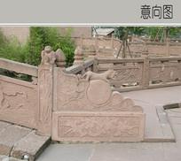 中式文化图案桥梁护栏