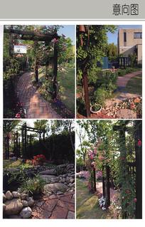 自然木桩花架 JPG