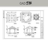 木质凉亭CAD