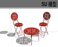 钢丝红色中式图案座椅