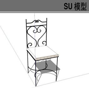 铁艺椅子囹�a_黑色铁艺椅子