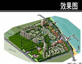 某海滨综合住区鸟瞰图