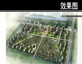 苏州某住宅规划鸟瞰图