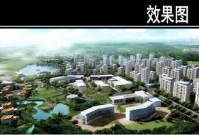 天津某养老社区鸟瞰图