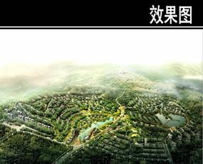 新津某住宅规划鸟瞰图