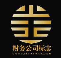 创意金字金融行业标志logo