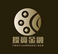 大气金融投资理财钱币logo