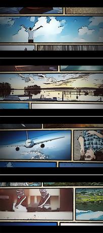 漫画风格电影宣传视频模板