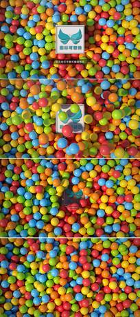 三维彩色圆球动画标志展示模板