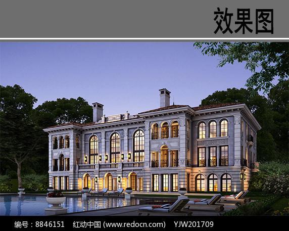 北京某高档别墅效果图图片