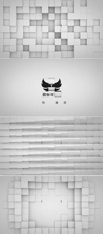 方块翻转logo演绎ae模板