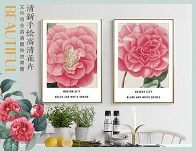 高清花卉装饰画 PSD