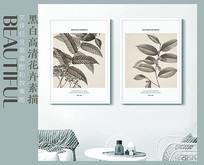 高清新中式花卉装饰画