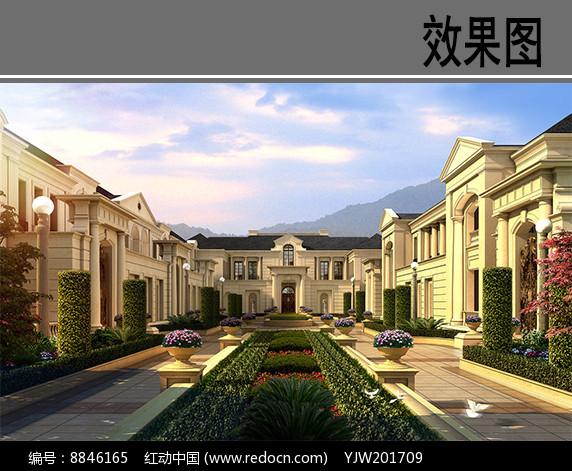 杭州某别墅住宅效果图图片