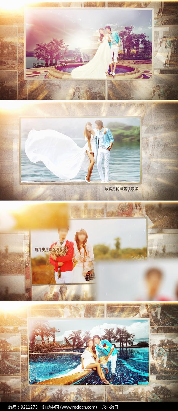 婚礼相册ae模板图片
