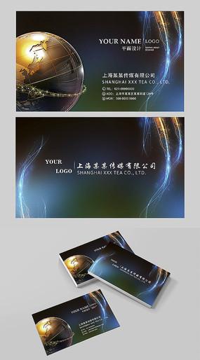 炫酷传媒公司名片设计 PSD