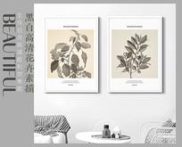 手绘高清现代花卉装饰画