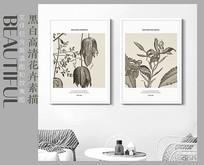手绘植物装饰画