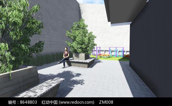 树池坐凳效果图图片