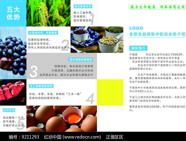 新鲜农产品配送服务折页图片