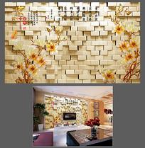 玉兰电视背景墙