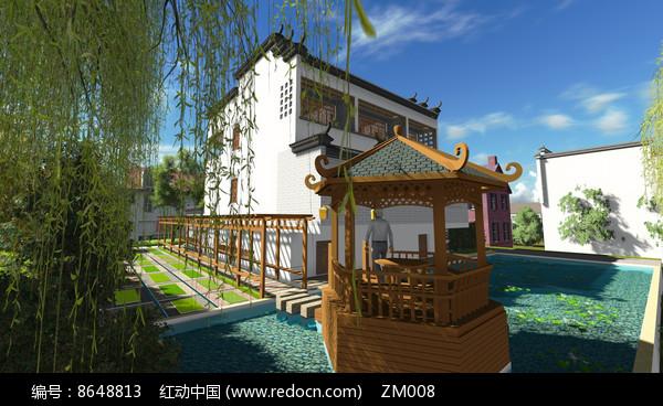 中式凉亭效果图图片