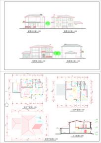 两层 CAD别墅设计 dwg