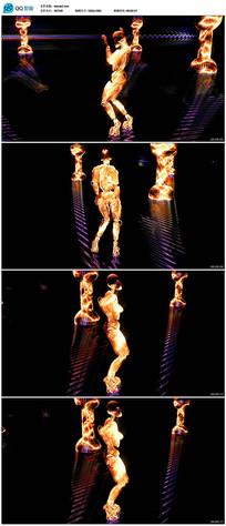 金色骷髅跳舞视频