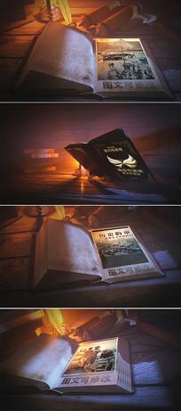 史诗大气3d书本相册ae模板