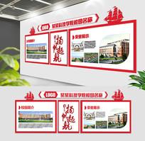 现代创新学校文化墙